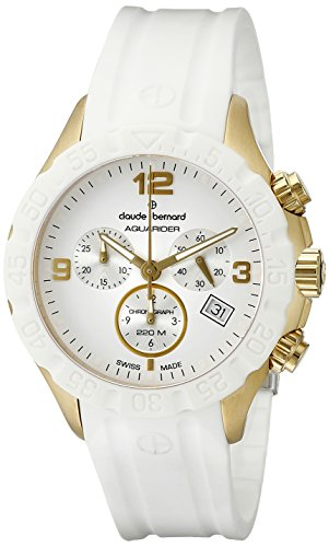 Claude-Bernard-Mens-10205-37JB-BID-Analog-Display-Swiss-Quartz-White-Watch