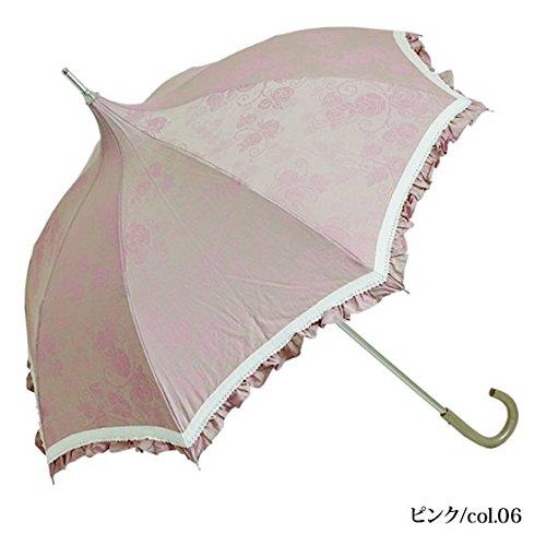 Petit Rose(プティローズ)/日傘 折りたたみパゴダ日傘 UVカット 晴雨兼用 共布傘袋付き(ピンク/col.06) B00CHYTE22 ピンク/col.06 ピンク/col.06