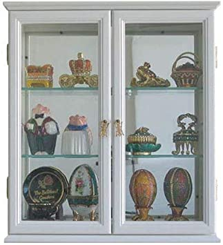 Wall Mounted Curio Cabinet Wall Display Case With Glass Door Solid Wood Cd05c Wh Amazon Ca Home Kitchen