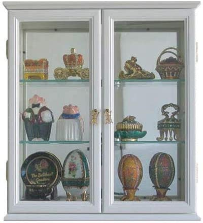 Amazon Com Small Wall Mounted Curio Cabinet Wall Display Case