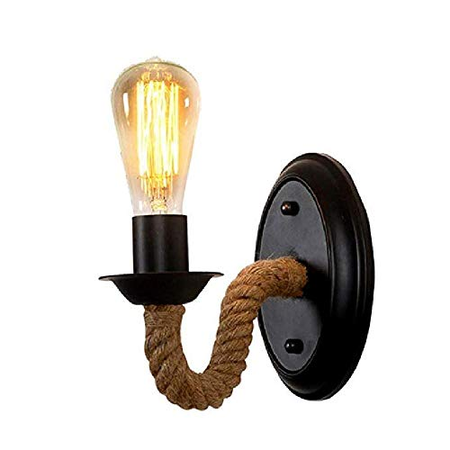 Lustre Intérieur Rétro Applique Chambre Lampe De Chevet Escalier Créatif Allée Jardin Lampe En Corde De Fer Forgé