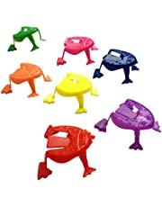 Balacoo 100pcs Jumping Frog Toy Plastic Jumping Frogs Finger Pressing Toy Hopping Frog Toys Kids Birthday Party Favors for Boys Girls