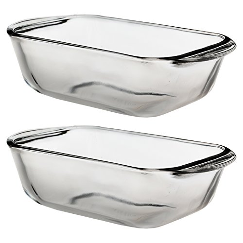 Anchor Hocking Glass 1.5 Quart Baking Dish, Set of (Glass Loaf Dish)
