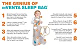 Love To Dream Inventa Sleep Bag/Wearable Blanket with Unique Vented Cooling System, Luxurious Super-Soft Cotton, Stylish Fashion Design, 1.0 TOG, 4-12 Months, Lemon