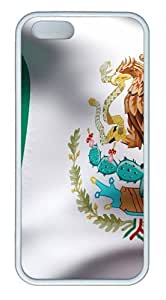 iPhone 5S Case, iPhone 5S Cases -Waving Mexican Flag15 TPU Silicone Rubber Case Cover for iPhone 5 and iPhone 5s White