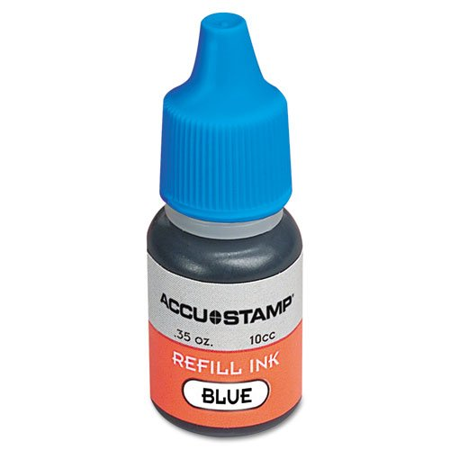 ACCU-STAMP Ink Refill for Pre-Ink Stamps, Blue, .35oz (090682) ()