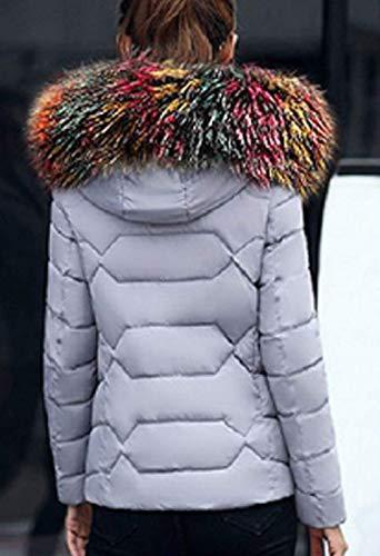en élégante femmes Veste veste coupe capuche grain veste épaissir hiver en longues air plein la de mode fourrure avec manches grain costume en slim fausse duvet duvet chaud vestes pour matelassée qtxw0vBt
