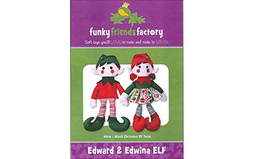 Funky Friends Factory Edward & Edwina Elf - Pattern Elf Doll