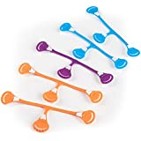 Snappi Cloth Diaper Fasteners - Pack of 5 (2 Orange, 2 Blue, 1 Purple) Bright Colors