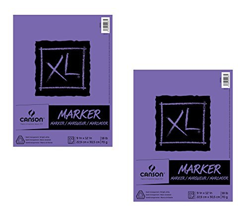 Canson XL Series Marker Pad, 9''X12'' Fold Over (2 Pack) by