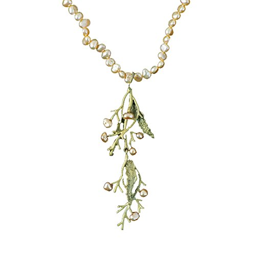 ''Seaweed'' Pearl Drop Necklace by Michael Michaud for Silver Seasons… by Michael Michaud