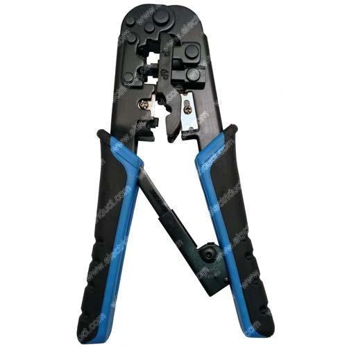 - Dual-Modular Network Crimping Tool - RJ45/RJ12/RJ11 - Cutter/Stripper