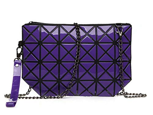 Hologram Shoulder Cosmetic Geometric Women Body Purple Bag Handbag Cross Bag AdqI0qxnZ