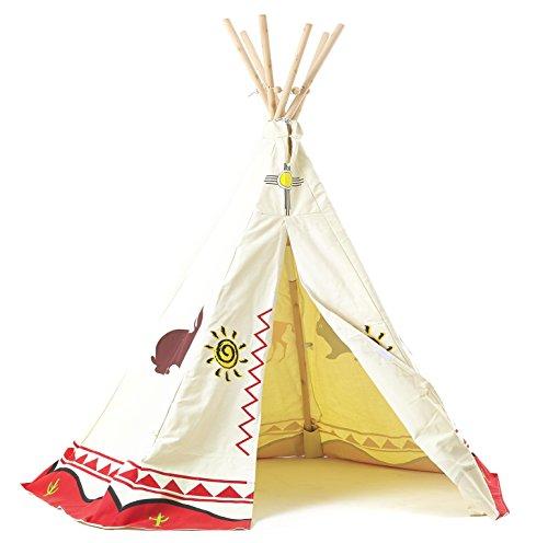 Garden Games 3025 - Kinder Wigwam / Spiel-Zelt Tipi - traditionelle Wild West Cowboys und Indianer-Design
