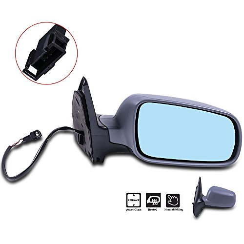 SCITOO Passenger Right Door Mirror for 1999-2006 VW Volkswagen Golf Jetta 2006 Jetta Wagon 07-10 Jetta Sedan Heated Power Adjusted Manual Folding Side Mirror Golf Mirror Passengers Side Manual