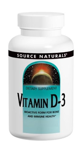 Source Naturals Vitamin D-3 1000IU, Bioactive Form for Bone and Immune Health, 200 SoftGels