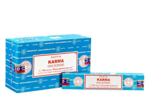 (Satya Incense Sticks Karma Incense Sticks 12 Count 180 Grams Box)