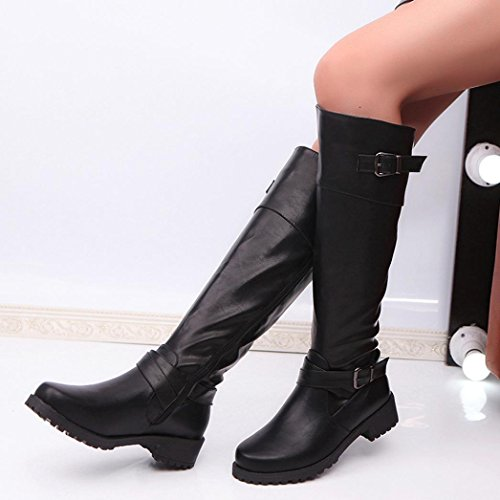 Invernali Donna Cavaliere Top Piatta Autunno BeautyTop Nero Boots Mid Caviglia Beauty Stivaletto Stivali Stivali Boots Pelle Alla Scarpe FStEqZEwx