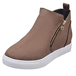 Women's Casual Short Boots,Ladies Solid ...
