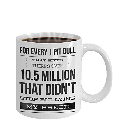 PIT BULL COFFEE MUG ~ Ideal dog lover gifts/Unique gift idea for some one who love/looking for English-terrier-boxer breed-dog-rescue-puppy-items-accessories, White Ceramic mugs with quote for - Who Lenses Makes Oakley