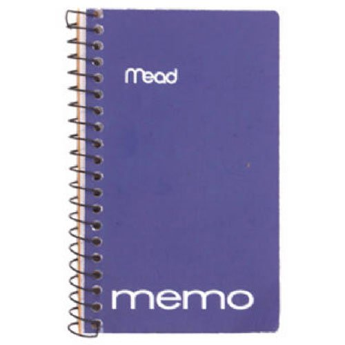 - Mead Memo Book, College Ruled, 5 x 3 Inches, Wirebound, 60 Sheets, Assorted (45534)