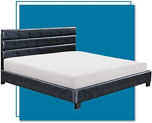 Click Decor FUBD10028B Hudson Upholstered Platform Bed