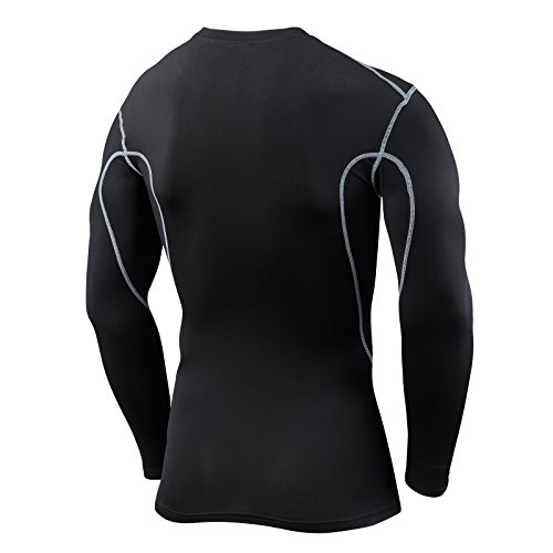 Men's Boys TCA Pro Performance Compression Base Layer Long Sleeve Thermal Top Crew / Mock Neck