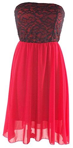 citydress24 - Vestido - para mujer Rojo