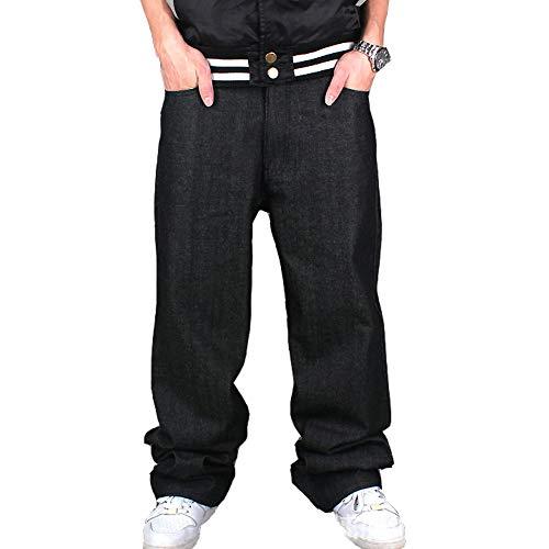 7a0663fb4d Ruiatoo Men s Boy Baggy Loose Fit Hip Hop Black Denim Long Casual Pants  Jeans - Buy Online in KSA. Apparel products in Saudi Arabia.