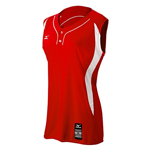Mizuno 350604.1000.09.XXXL Elite 2-Button Game Jersey Sleeveless XXXL RED-White