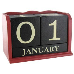 red-black-white-wood-calendar-blocks