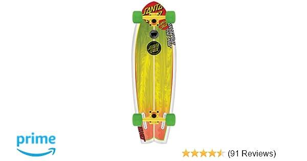 d45b43d5 Santa Cruz Skate Land Shark Rasta Sk8 Complete Skate Boards, 8.8 x 27.7-Inch