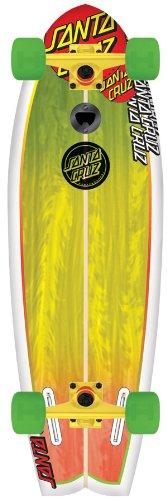 Santa Cruz Skate Land Shark Rasta Sk8 Complete Skate Boards, 8.8 x 27.7-Inch