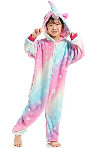 Women's Sleepwear Kids Unicorn Onesie Animal One-PiecePajamas Halloween Cosplay Costume Sleepwear -