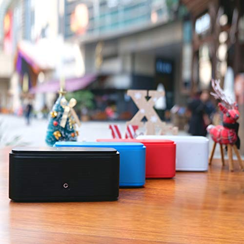 DOSS SoundBox Touch Portable Wireless Bluetooth Speakers with 12W HD Sound and Bass, 20H Playtime, Handsfree, Speakers for Home, Outdoor, Travel-Black