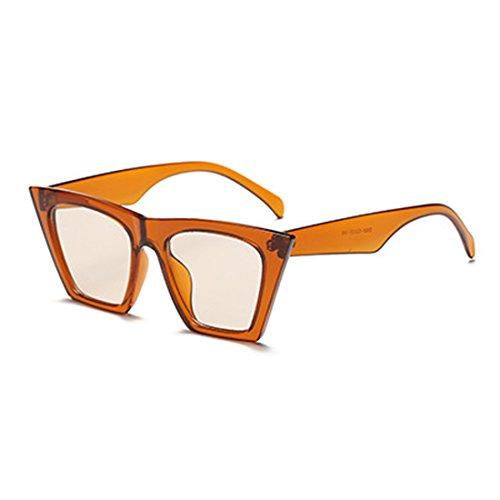 Lens Oval marco plástico Naranja Cat Eye Vintage Aiweijia Style Retro Women Sunglasses Szn8A4q