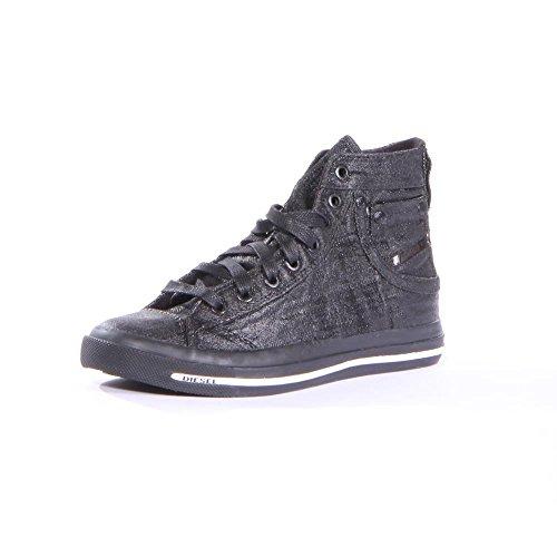 Diesel Women's Magnete Exposure Iv W Fashion Sneaker, Black, 8 M US