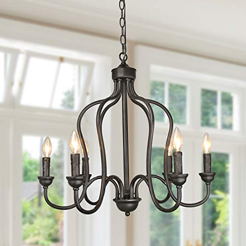 (LALUZ Chandeliers, Foyer Pendant Lights for for Kitchen Island Dinning Room Bedroom, A03250)