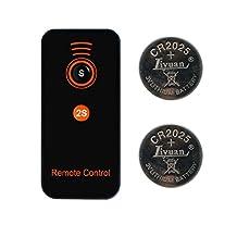 CamDesign IR Wireless Remote Control for Sony Alpha Series A7, A7r, A33, A55, A65, A77, A99, A900, A700, A580, A560, A550, A500, A450, A390, A380, A330, A230 DSLR Cameras and NEX-7, NEX-6, NEX-5T Compact Cameras and select Digital SLR Cameras with on