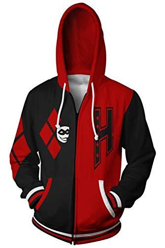 Unisex Movie Cosplay Hoodie Jacket Pullove Sweatshirt with Zippers -