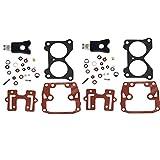 CQYD New Carburetor Repair Kit For 18-7046 439076 with Float Johnson Evinrude Twin Carb Rebuild Kit V4 85 90 100 115 125 140 HP