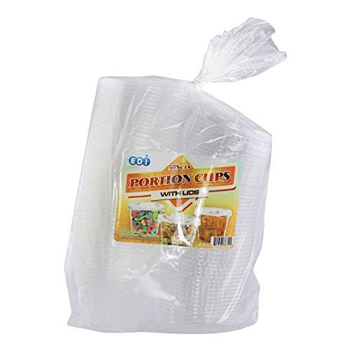 EDI 4 Ounce Clear Plastic Disposable Portion Cups/Souffle Cu