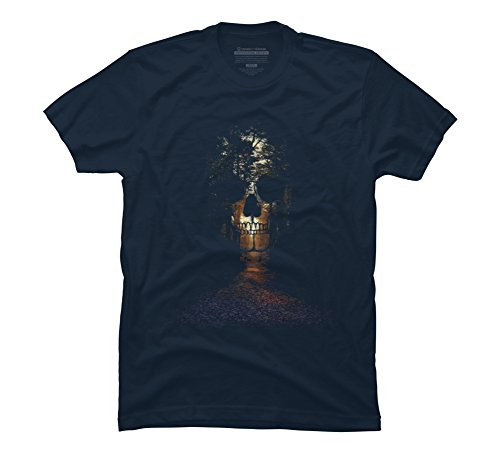 natures-deadly-path-mens-small-navy-graphic-t-shirt-design-by-humans