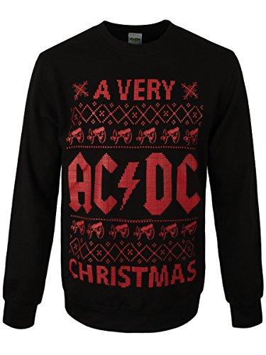 AC/DC Pull de Noël Homme Noir Sous Licence Officielle