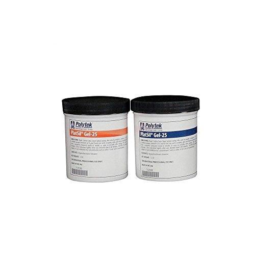 Gel Casting - Polytek PlatSilGel-25 Platinum Silicone Rubber (2lb Kit)