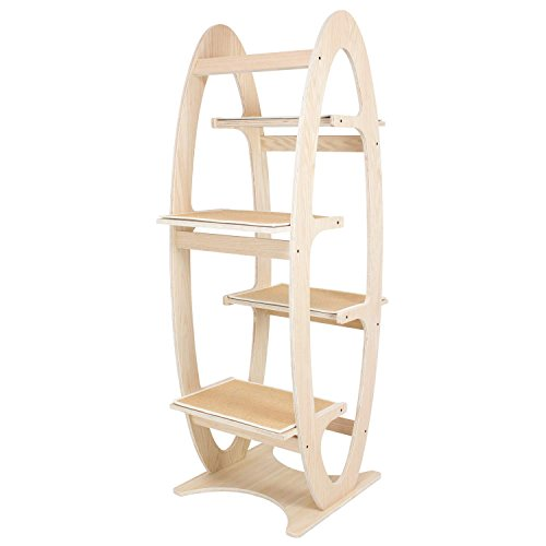 FrontPet Apex Designer Cat Tree Tower  23 L x 23 W x 68 H Carpeted Stairs
