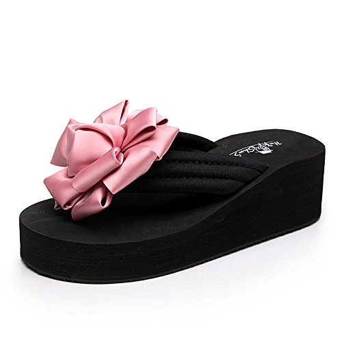 FEI Mules Female summer slippery slippers Thick sandals Fashion beach slippers for 18-40 years Sandals Casual (Color : 1002, Size : 39) 1001