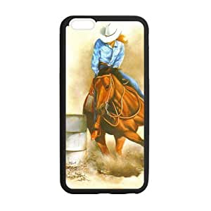 Canting_Good Barrel Racing Cowgirl Custom Case Shell Skin for iPhone6 Plus 5.5 (Laser Technology) by ruishername