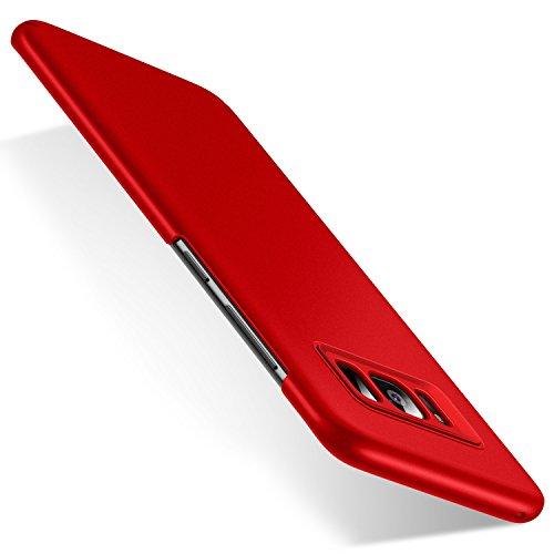 Humixx Samsung Galaxy S8 Case Thin Non Slip [Anti-Fingerprint] Stylish Slim Matte Case Anti Slip Protective Case for Galaxy S8 2017(Multi Color Series-Red)