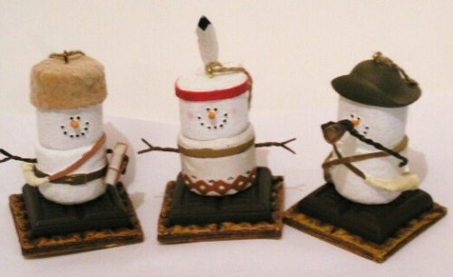 S'mores Original Lewis, Clark, Sacagawea, Christmas Ornaments Set Of 3 From Original Smores Collection (Cannon Falls Smores)